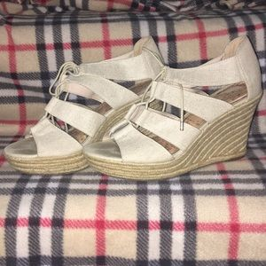 Cream espadrille sandals